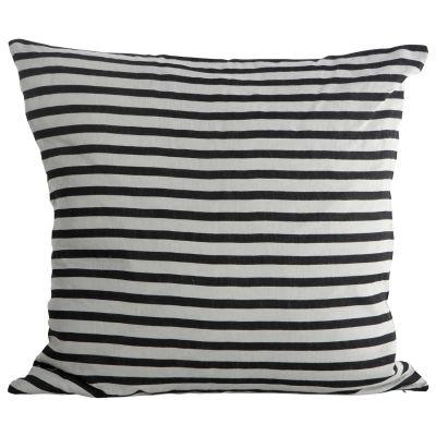 Stripe kuddfodral, svart/grå