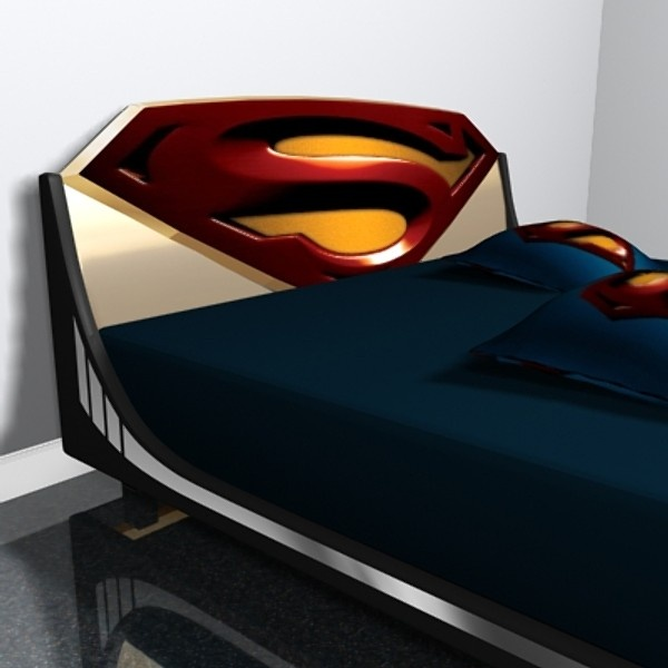 superman/ wonderwoman bedding | Superman Bed