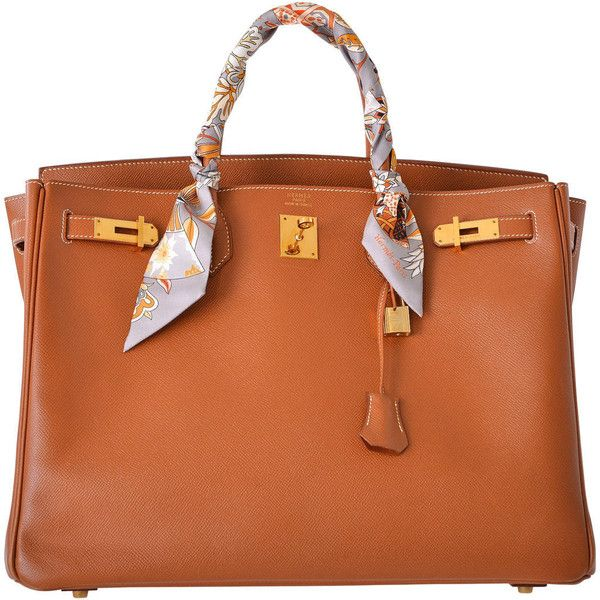 hermes birkin purse - Pre-owned HERMES BIRKIN BAG GOLD 40CM GOLD HARDWARE PRE-LOVED ...