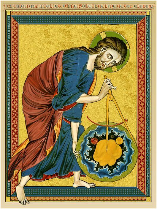 Biblia Moralizada 1220-1230 folio 1 verso