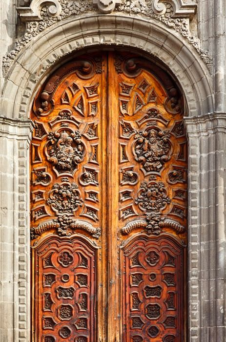 Cathedral Metropolitana doors, Mexico City