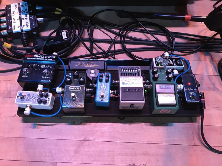 My board from last nights show. (Signal chain in comments