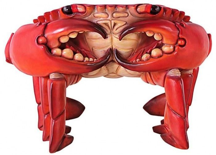 """""""Giant Red King Crab"""" Sculptural Chair – Perfect Seating For Ministry Of Crab"""