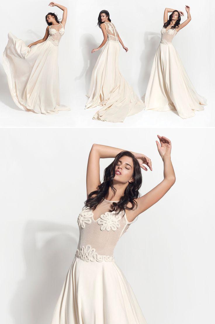 "Mod.""Adeia""  vintage wedding dress, boho wedding dress, VG Ζolotas, Atelier Zolotas, Handmade wedding dress, women fashion, bridal fashion, bride"