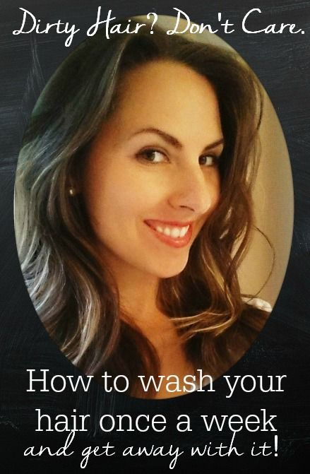 Dirty hair, dont care. How to wash your hair once a week - and get away with it! Includes a recipe for DIY dry shampoo especially for dark hair.