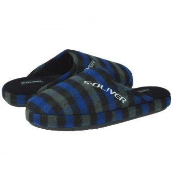 Papuci casa S.Oliver albastru negru #homeshoes #cozy #Shoes