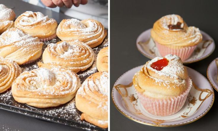 Habt ihr schonmal was von Cruffins gehört? Das ist eine Kreuzung aus Croissants und Muffins. Der Teig ähnelt ein bisschen dem von Franzbrötchen, aber Cruffins kann man mit selbstgemachter Erdbeermarmelade oder Nuss-Nugat-Creme füllen.