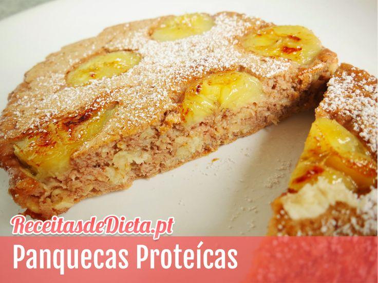 Receita de panquecas proteicas #receita #dieta #fitness #emagrecer