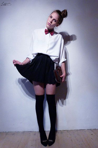 Pap..papi..papillon !  (by Little. S .) http://lookbook.nu/look/4098114-Pap-papi-papillon  -bow tie!