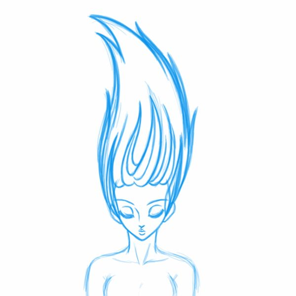 Hair Animation in Toon Boom Harmony.