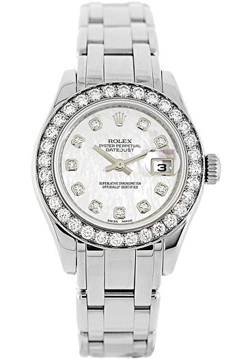 Certified Pre-Owned #Rolex #Ladies Pearlmaster 18K White #Gold #watch #watches #fashion #accessory #vintage #fashion #diamond #diamonds