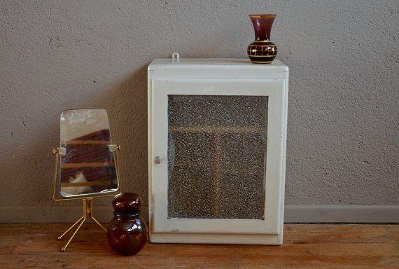 Pharmacy Cabinet toilet vintage retro furniture Bohemian years 40 medicine cabinet toilet wardrobe English antic midcentury furniture