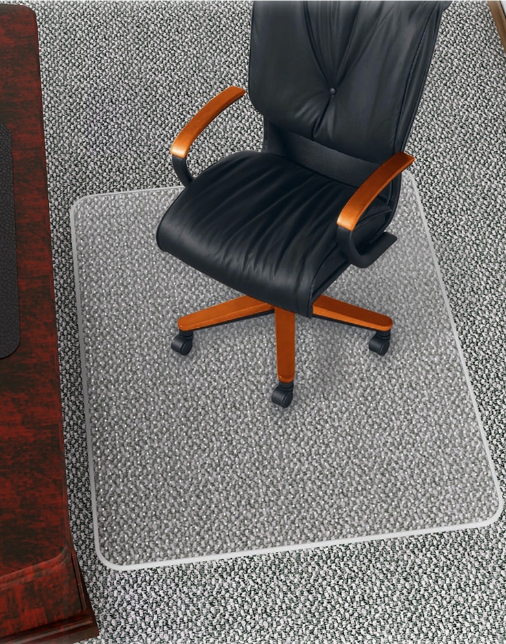 High Pile Carpet Chair Mat Rollamat Frequent Use Chair