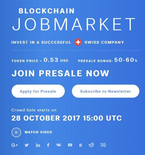 Crowd Sale starts on 28 OCTOBER 2017 15:00 UTC ➡️JOIN PRESALE NOW⬅️ 📢https://www.globaljobcoin.com/📢