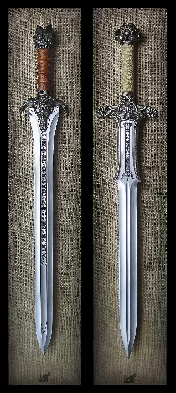 Albion Armorers replica Conan The Barbarian Swords. Hand sharpened by Jody Samson