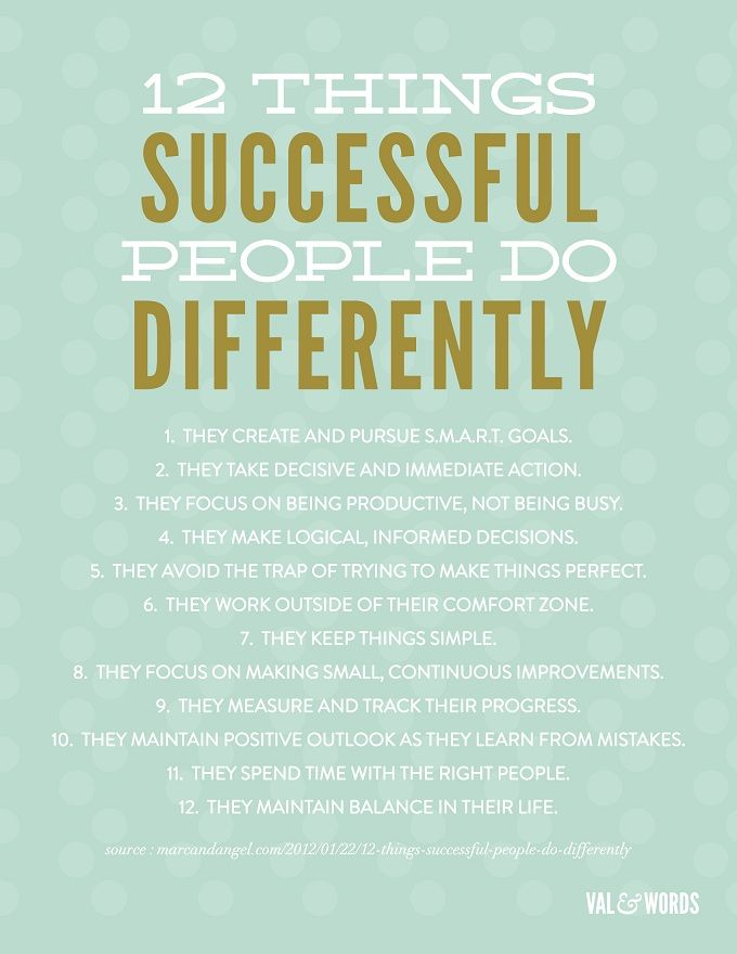 12 Things Successful People Do Differently