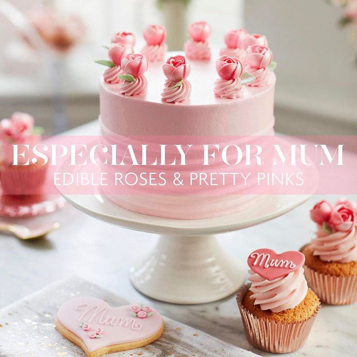 Because Mums deserve the best! Our pretty Mother's Day collection is now available to order online. #mothersday #pink #roses #layercake #cupcakes #heartcookies #peggyporschen @sophieconranshop @anthropologieeu