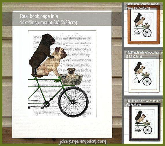 Mops Geschenk Mops Fahrrad Mädchen Kinderzimmer Kunst