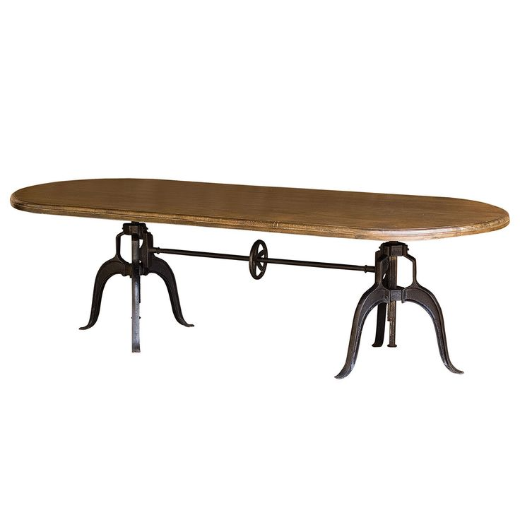 """Double Crank Oval Dining Table 104"""" 