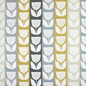 Addington Saffron 100% Cotton 137cm 64cm Curtaining