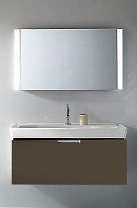 Мебель для ванной Jacob Delafon Reve 120 светло-коричневая, 1 ящик. Купить в магазине Сантехника-онлайн.Ру
