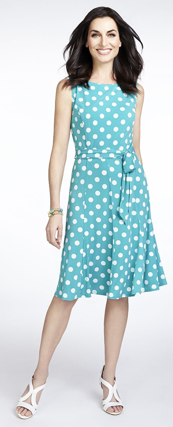 Polka Dot Fit and Flare Dress #AberdeenMall #Cleo