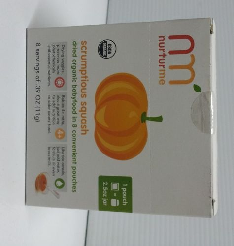 Nurturme, Dried Organic Baby Food, Scrumptious Squash, 8/17 Grm