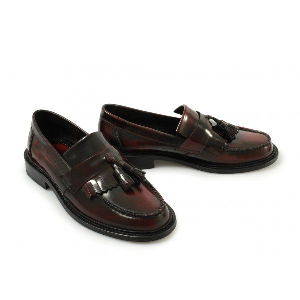 mod shoes tassel loafers for women ikon 03 oxblood
