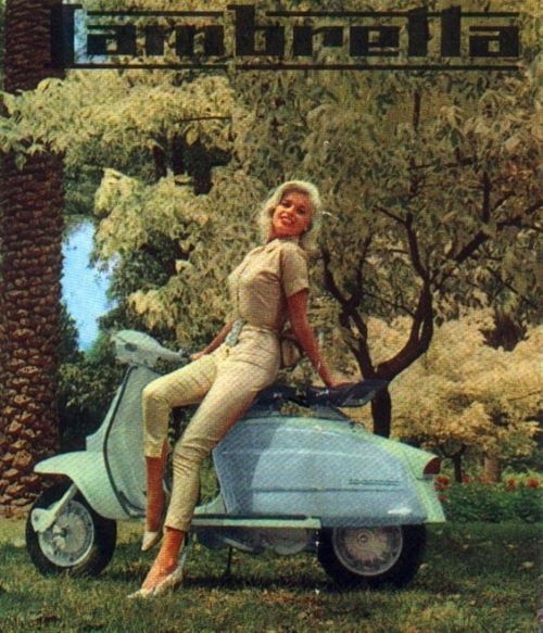 Jayne Mansfield in Ad for Lambretta Scooters. Early Sixties.