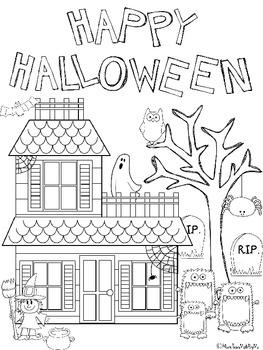 Kindergarten Halloween Coloring Worksheets good