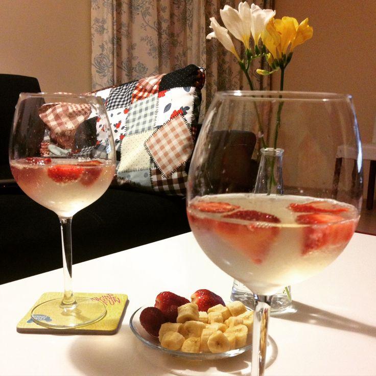 strawberry martini, martini bianco con la fragola, mamma mia