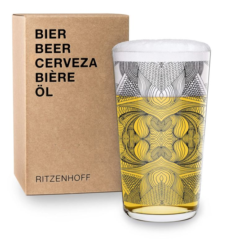 Ritzenhoff's newest collection : The Next 25 years. A beer glace designed by Joan Tarragó.