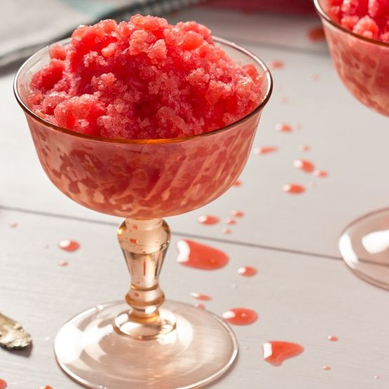 This Raspberry Meyer Lemon Granita recipe is simple to make and a refreshing treat. Not only is it delicious, it is a fun vintage recipe from the 1930's.