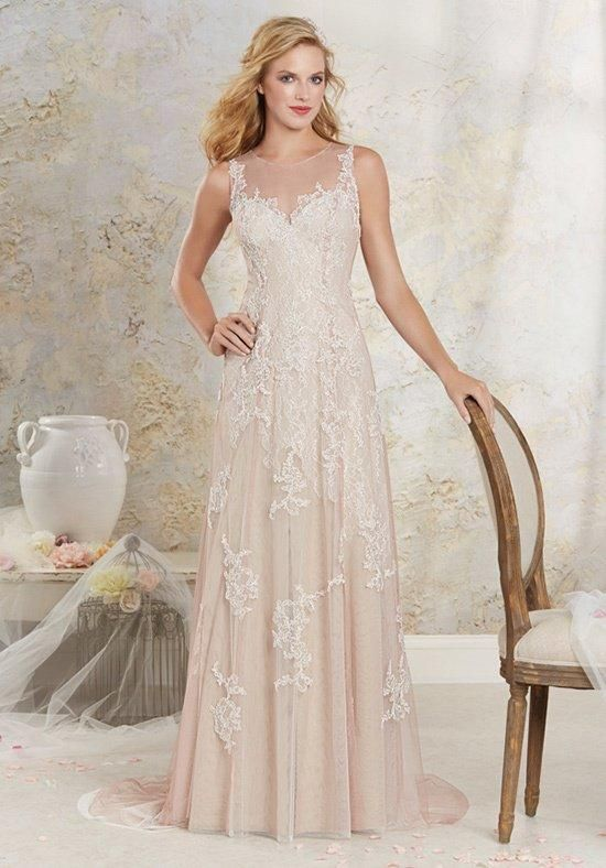 Alfred Angelo a-line gown with sheer illusion  neckline, empire waist, and lace embellishments I Style: 8530 I https://www.theknot.com/fashion/8530-modern-vintage-by-alfred-angelo-wedding-dress?utm_source=pinterest.com&utm_medium=social&utm_content=june2016&utm_campaign=beauty-fashion&utm_simplereach=?sr_share=pinterest