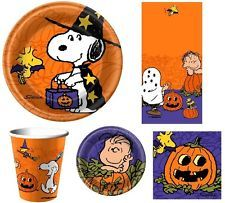 peanuts halloween snoopy charlie brown great pumpkin birthday party supplies - Halloween Party Supplies
