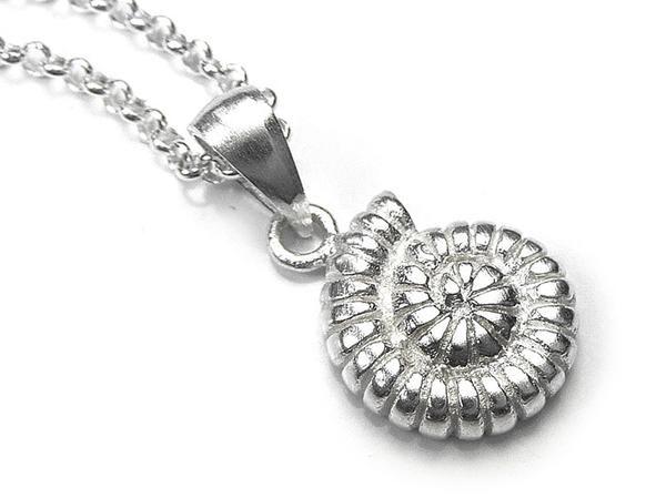 Silver Pendant - Ammonite