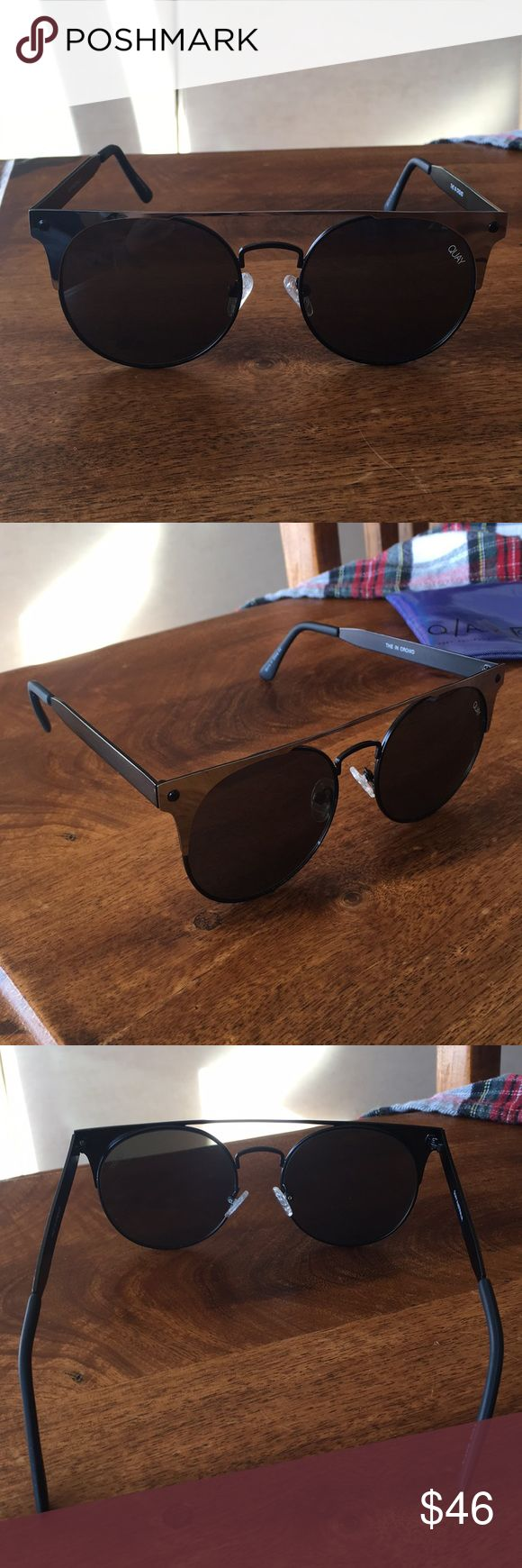 QUAY glasses comes with case. worn a few times. amazing condition! a few tiny scratches but not even noticeable! Quay Australia Accessories Glasses