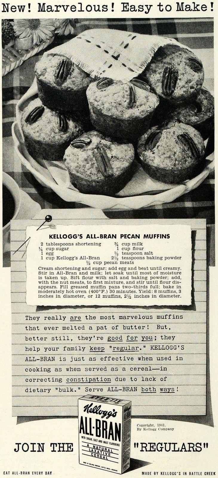 All Bran Muffins  Ils sont simples et délicieux Olivier a bcp aimé (doubler la recette et ajouter des dattes hachées sur le dessus) 12 muffins