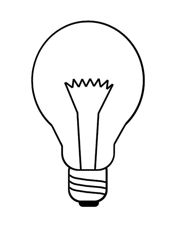 Lightbulb Printable Coloring Page