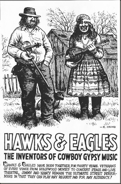 Above: Hawks & Eagles promo sheet… -Illustration/Lettering by R. Crumb - Borsdorf Hawks7