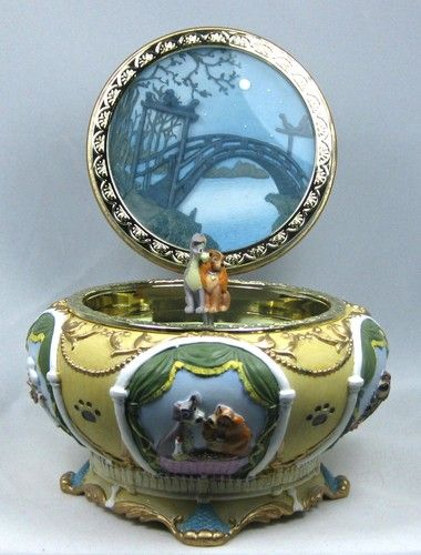 Lady and the tramp, Music boxes and Music on Pinterest