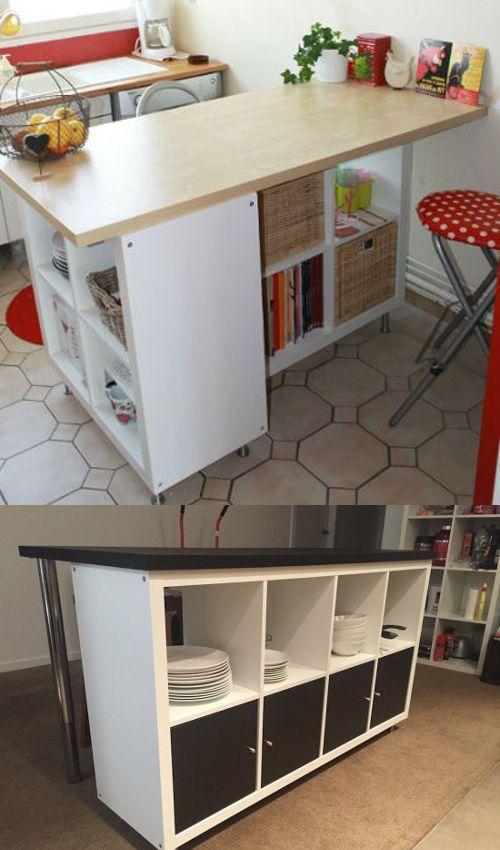 ikea hack d tourner et customiser une tag re kallax kallax ideas pinterest etagere. Black Bedroom Furniture Sets. Home Design Ideas