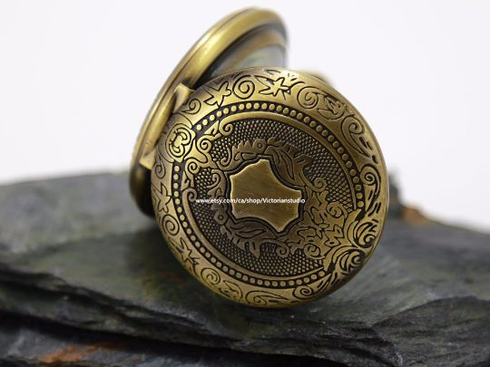 Antique Gold Bronze Pocket watch Engravable Mechanical, Personalized Groomsmen Gifts Wedding Groom, Gift for him M28 Christmas gift