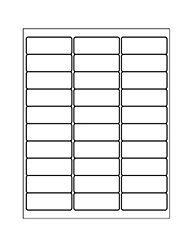 Free Avery® Templates - Address Label, 30 per sheet