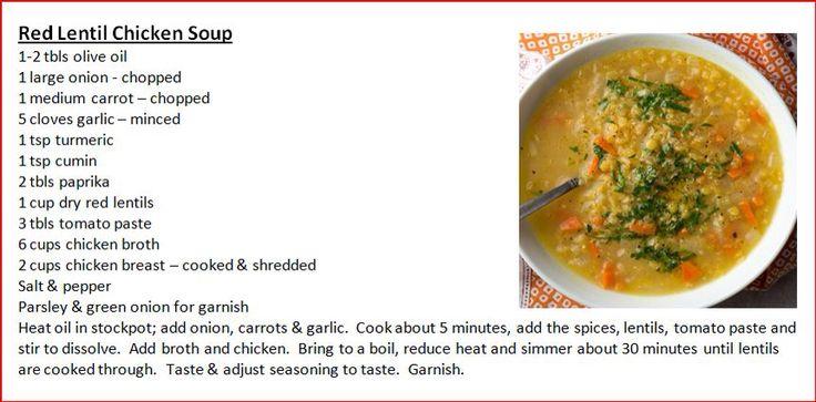 Red Lentil Chicken Soup