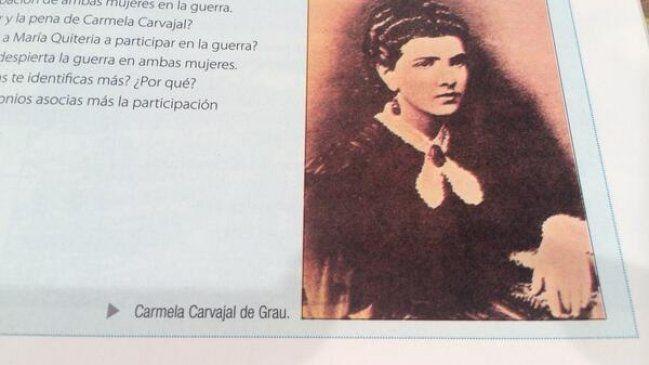 """Carmela Carvajal de Grau"": Descubren nuevos errores en textos escolares de Historia - Cooperativa.cl"
