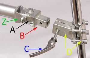 Bicycle Trailer HItch Parts CD