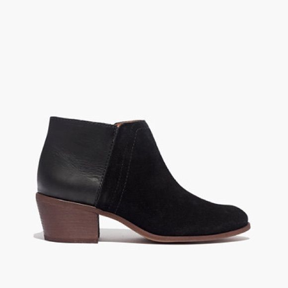 Madewell Cait Boot Black leather/suede; good condition Madewell Shoes Ankle Boots & Booties