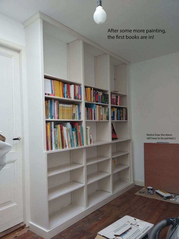 Volle Hohe Eingebautes Bucherregal Von Ivar Einheiten In 2020 Eingebautes Bucherregal Umfunktionierte Mobelstucke Zuhause Diy