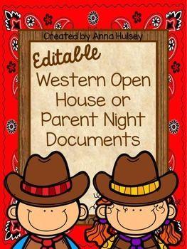 Western themed open house documents & folder labels